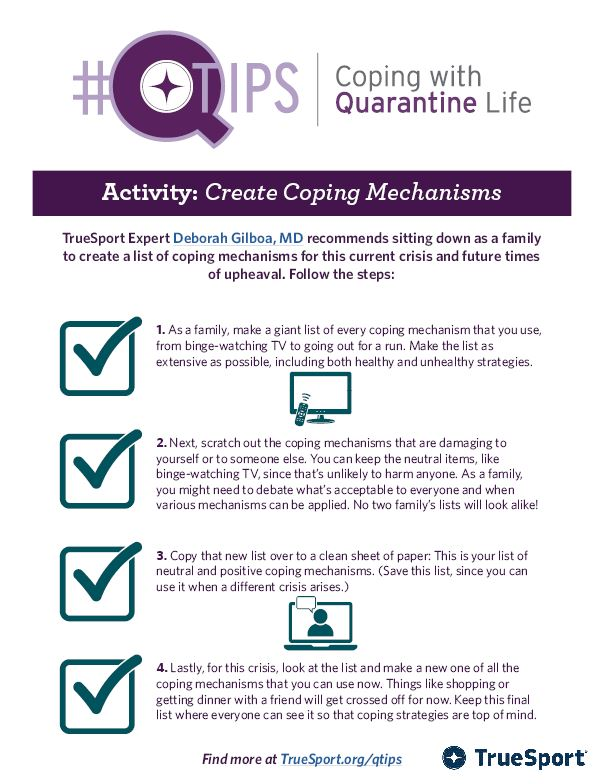 Smaller image of Q Tip Activity for Coping Mechanisms.